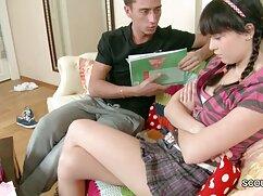 دوست دختر خود را کمک سکس خواهر وبرادر می کند تا به جلق زدن و استفاده از یک مادر بزرگ با پاهای تربچه, بوسیدن,